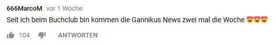 Gannikus News mal zwei