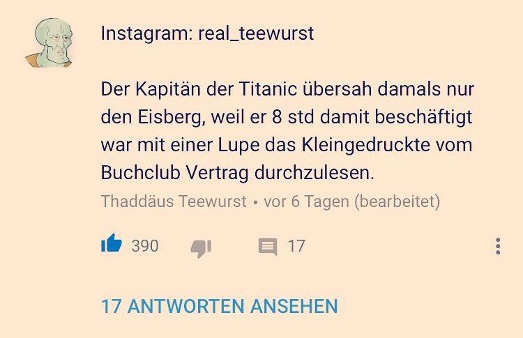 Buchclub und die Titanic