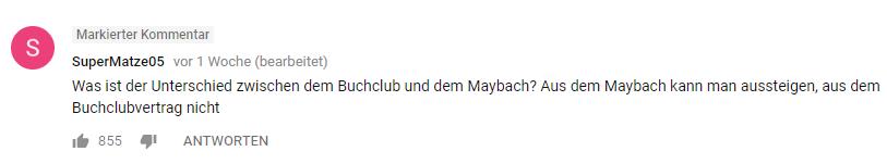 Maybach oder Buchclub